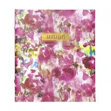 refillable photo albums refillable address book painterly floral