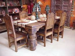 Waxed Pine Dining Table Mexican Dining Table And Chairs Dining Table Rustic Pine Furniture