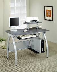 Glass Corner Computer Desks For Home Steel Frame Desk Corner Computer Desk With Hutch Silver Metal Desk
