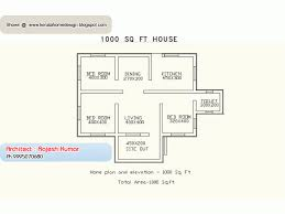 house design for 1000 square feet area kerala single floor house plan story plans square feet adhom house
