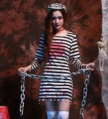 Womens Prisoner Halloween Costume 2016 Arrival Horror Terror Ghost Zombie Bloody Female