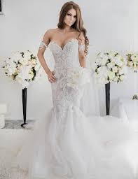 mermaid style wedding dress mermaid the shoulder sweep lace wedding dress with