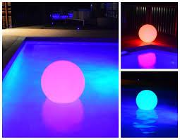 floating pool ball lights led floating pool lights set of 3 led pool lights goglow
