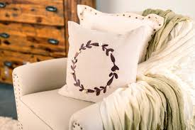 faux leather throw pillows using cricut faux leather gold foil to dress up your home