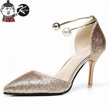 wedding shoes pumps online shop kimfoxes summer woman high heels pumps silver high