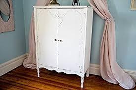 Vintage Armoire Amazon Com Custom Order Antique Armoire Shabby Chic White