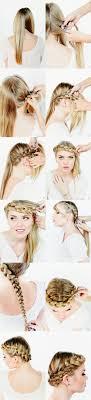 easiest type of diy hair braiding diy tutorial crown braids in easy way hairstylescut