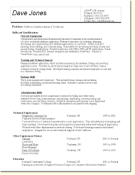 Qa Manual Tester Sample Resume by Qa Tester Resume Sample Template Examples