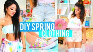 easy diy inspired spring clothing for cheap no sew youtube