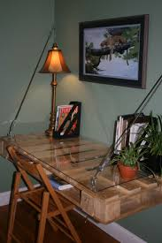 Diy Pallet Wood Distressed Table Computer Desk 101 Pallets by 394 Best Pallet Desks Images On Pinterest At Home For My Love