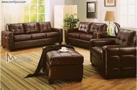 Brown Leather Sofa Sets Brown Leather Living Room Set Living Room