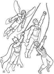superheroes coloring page commission by firefiriel on deviantart