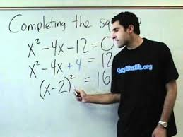 algebra completing the square youtube