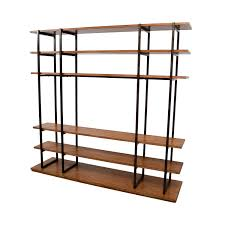 44 off wood and metal entertainment wall unit storage