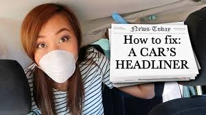 Car Upholstery Glue How To Fix Car Headliner Youtube
