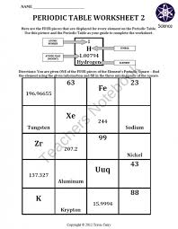 periodic table worksheets pdf free worksheets library download
