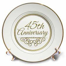 35 year wedding anniversary 3drose cp 154487 1 45th anniversary gift gold text for