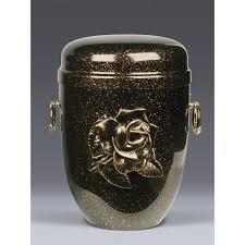 cremation ashes mottled copper steel with big gold emblem funeral cremation