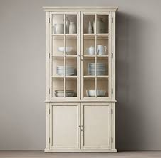 restoration hardware china cabinet casement double door panel sideboard glass hutch