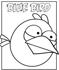 print u0026 download angry birds coloring pages blue bird