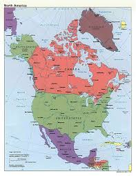 Map Of The United States With Capitals by Maps Of North America And North American Countries Political