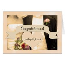 Buy Wedding Greeting Cards Online Wedding Congratulations Greeting Cards Zazzle