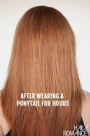 bungees hair how to avoid the ponytail dent hair