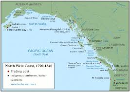 Northern Oregon Coast Map by Maritime Fur Trade Wikipedia