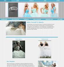 bridal websites formal wear website exle website design layouts