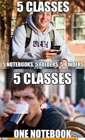 College Test Meme - file folders are for the weak school of fail homework class test