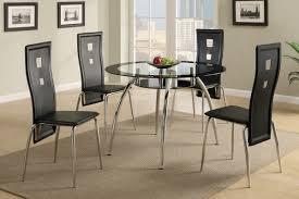 hayley black 5 pc dining set u2014 coco furniture gallery furnishing