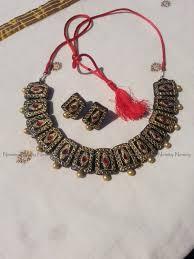 choker terracotta jewelry temple jewelry necklace set