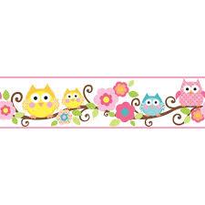 Kitchen Wallpaper Borders Fun Owl Branch Wallpaper Border Ks2212bd Baby Pinterest