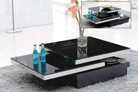 modern living room table black glass swivel coffee table modern amazon living attractive 3