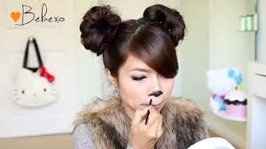easy cat halloween makeup diy halloween costume ideas bear u0026 cat ears hairstyle u0026 makeup