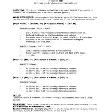 resumes for restaurant jobs best photos of restaurant manager job description templates