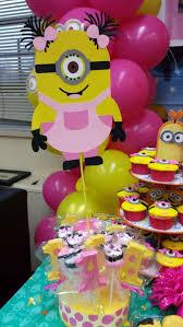 Pink And Yellow Birthday Decorations Minion Birthday Party Ideas Minion Birthdays And
