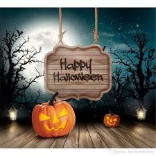 happy halloween photography backdrops moon stars night sky trees