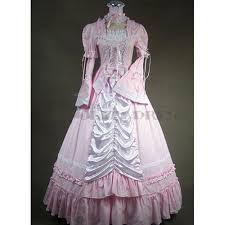 lovley long sleeves ribbon bowknot ruffles pink gothic victorian