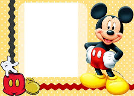 Mickey Mouse 1st Birthday Card Mickey Mouse Photo Birthday Invitations Mickey Mouse Photo