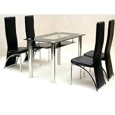 glass breakfast table set glass top dining table set 4 chairs surprising glass dining sets 4