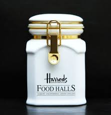 delightful harrods knightsbridge white ceramic kitchen storage jar