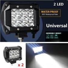 led security light bar 2pcs 4 36w 3 row 12 led work lights bar flood ls for off road