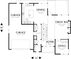 Wide House Plans by Prairie Style House Plan 4 Beds 3 50 Baths 3651 Sq Ft Plan 48 245