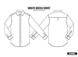 men dress shirt vector template illustrations creative market