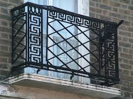 interior banister steel railing outdoor front wrought iron balcony