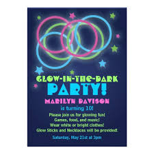 glow in the dark party invitations free templates free custom