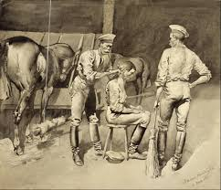 file frederic remington a haircut in a cavalry stable google