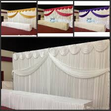 wedding backdrop ireland 10ft 20ft white color silk wedding backdrop curtain with swags