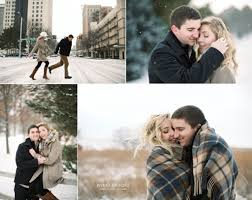and s winter engagement in downtown lincoln